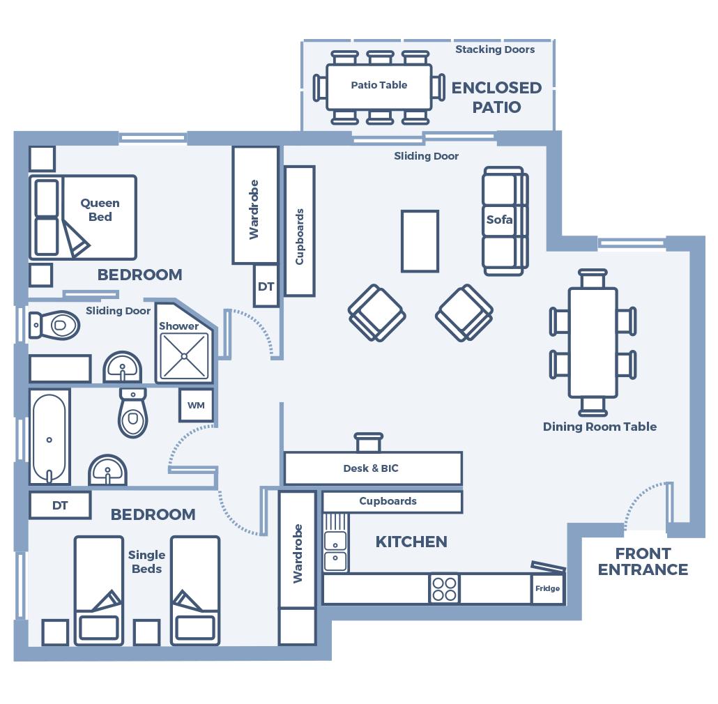 Century City Collection- Palma 103 Floor Plan
